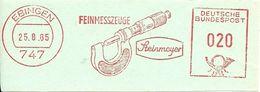 Germany Nice Cut Meter Steinmeyer Feinmesszeuge, Ebingen 25/8/1965 - Fabrieken En Industrieën