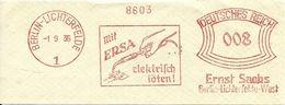 Germany Nice Cut Meter Mit ERSA Electric Welding Berlin-Lichterfelde 1/9/1935 - Fabrieken En Industrieën