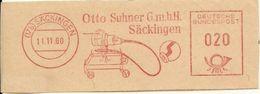Germany Nice Cut Meter Otto Suhner Sackingen 11/11/1960 - Fabrieken En Industrieën