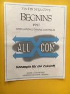 5856 - Begnins 1997 Pour L'entreprise ALL COM Konzepte Für Die Zukunft Suisse - Etiquettes