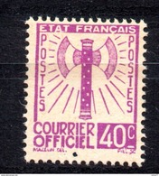 XP477 - FRANCE Francia - 1943 - COURRIER OFFICIEL, Yvert 3, 40 Cent. *** MNH - Servizio