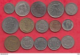 Luxembourg 15 Pièces Dans L 'état Lot N °1 - Coins & Banknotes