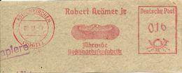 Germany Nice Cut Meter Robert Kramer, BROOM, Stuttgart, 23/7/1949 - Fabrieken En Industrieën