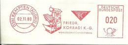Germany Nice Cut Meter Friedrich Korradi, LATHE, Kempten, 2/11/1980 - Fabrieken En Industrieën