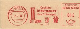 Germany Nice Cut Meter Peter Thormeyer, Schmierapparate, Rastatt, 2/7/1958 - Fabrieken En Industrieën