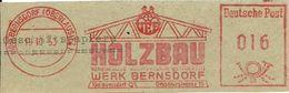 Germany Nice Cut Meter HOLZBAU, Berndorf 19/10/1953 Bridge - Fabrieken En Industrieën