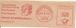Germany Nice Cut Meter Handtucher, Puztucher, Putzlappen, Heinz Stappenbeck, Munchengladbach 7/9/1970 - Fabrieken En Industrieën