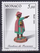 Timbre-poste Neuf** - Noël Santons De Provence Gaspard - N° 2012 (Yvert) - Principauté De Monaco 1995 - Monaco