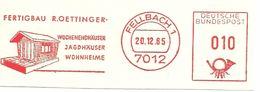 Germany Nice Cut Meter Fertigbau Oettinger, Wohnenendhauser, Jagdhauser, Fellbach 20/12/1965 - Fabrieken En Industrieën