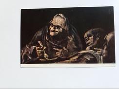 MUSEO DEL PRADO. GOYA. DOS VIEJOS COMIENDO SOPAS. DEUX VIEUX MANGEANT LA SOUPE. TWO OLD PEOPLE EATING SOUP.  2210a - Malerei & Gemälde