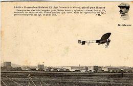 Monoplan Blériot XI  -  Type Traversé De La Manche  -  Piloté Par Mamet  -  CPA - Flieger