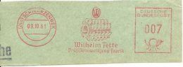 Germany Nice Cut Meter Wilhelm Fette, Schwarzenbek 9/10/1961 - Fabrieken En Industrieën