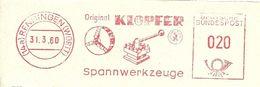 Germany Nice Cut Meter Klopfer Spannwerkzeuge, Renningen 31/3/1960 - Fabrieken En Industrieën
