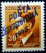 Local Czechoslovakia 1945 Liberation Overprint Olomouc MNH Rare - Tchécoslovaquie