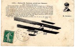 Monoplan Farman    -  Piloté Par Renaux  -  CPA - Flieger