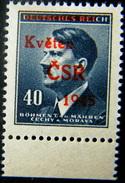 Local Czechoslovakia 1945 Liberation Overprint Skutec MNH Rare - Tchécoslovaquie