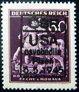 Local Czechoslovakia 1945 Liberation Overprint Plzen MNH Rare - Tchécoslovaquie