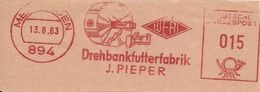 Germany Nice Cut Meter J. Pieper Drehbankfutterfabrik, 13/8/1963 - Fabrieken En Industrieën