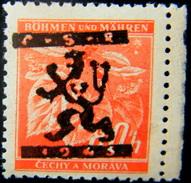 Local Czechoslovakia 1945 Liberation Overprint Turnov MNH Rare - Tchécoslovaquie