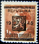 Local Czechoslovakia 1945 Liberation Overprint Konice MNH Rare - Tchécoslovaquie