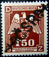 Local Czechoslovakia 1945 Liberation Overprint Sebranice Ll.type MNH Rare - Tchécoslovaquie