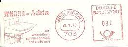 Germany Nice Cut Meter Jundra-Adria Waschtich Boblingen 29/9/1970 - Fabrieken En Industrieën