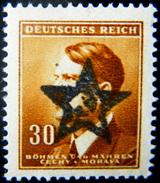 Local Czechoslovakia 1945 Liberation Overprint Rozmital MNH Rare - Tchécoslovaquie