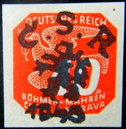 Local Czechoslovakia 1945 Liberation Overprint Tabor MNH Rare - Tchécoslovaquie