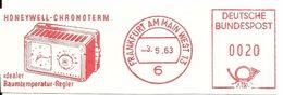 Germany Nice Cut Meter Honeywell Chroterm Raumtemperatur Regler, Frankfurt 3/5/1963 - Fabrieken En Industrieën