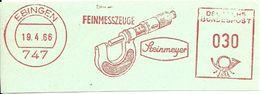 Germany Nice Cut Meter Feinmesszeuge, Steinmeyer, Ebingen 19/4/1966 - Fabrieken En Industrieën