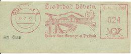 Germany Nice Cut Meter FSatadbath Bobeln 25/7/1952 - Vakantie & Toerisme