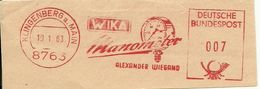 Germany Nice Cut Meter WIKA Manometer Alexander Wiegand, Klingenberg 19/1/1963 - Fabrieken En Industrieën