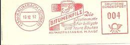 Germany Nice Cut Meter EMFA Bitumenfilz Isoliermatte, Krumbach 19/12/1952 - Fabrieken En Industrieën
