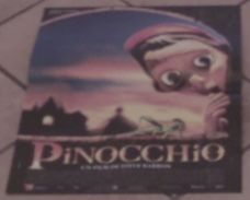 AFFICHE CINEMA ORIGINALE FILM PINOCCHIO Steve BARRON Martin LANDAU Geneviève BUJOLD 1996 TB DESSIN TBE - Affiches & Posters