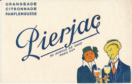 BUVARD -  Boissons PIERJAC, Orangeade, Ctronnade, Pamplemousse - Blotters