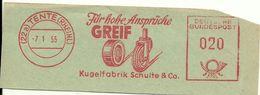 Germany Nice Cut Meter Greif Kugel Fabrik Schullte Tente 7/1/1955 - Fabrieken En Industrieën