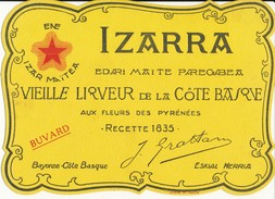 BUVARD -  IZARRA, Liqueur Basque - Liqueur & Bière