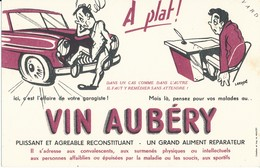 BUVARD - Vin AUBERY - Buvards, Protège-cahiers Illustrés