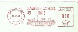 Germany Front Firmcover Meter Hamburg-Amerika-Line, Hamburg 15/2/1961 - Boten