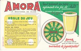 BUVARD - Moutarde AMORA, Jeu De 421 - Mostard