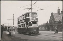 Liverpool Corporation Tramways 'Baby Grand' Tram No 19, 1955 - R B Parr Photograph - Other