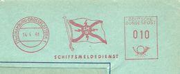 Germany Firmcover Meter Schiffsmeldedienst, Hamburg-Grossflotbek 14/4/1961 - Boten
