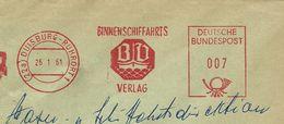 Germany Firmcover Meter Binnenschiffahrts Verlag, Duisburg 26/1/1961 - Boten