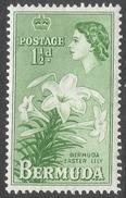 Bermuda. 1953-62 QEII. 1½d MH. SG 137 - Bermuda