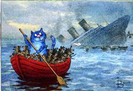 Cat Titanic Katze Chat  Artist Rina Zenuk Russia - Chats
