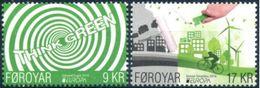 FEROE FOROYAR FAROE - 2v Mint MNH** - EUROPA 2016  Think Green - Environment -  Ecology Energia Renewable Energy - Europa-CEPT