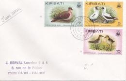 KIRIBATI :  Divers Oiseaux Sur Lettre - Kiribati (1979-...)