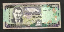JAMAICA - BANK Of JAMAICA - 100 Dollars (2001) - Giamaica