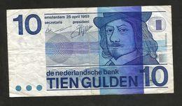 PAYS - BAS / NETHERLANDS / OLANDA - De Nederlandsche Bank - 10 GULDEN  (1968) - [2] 1815-… : Kingdom Of The Netherlands