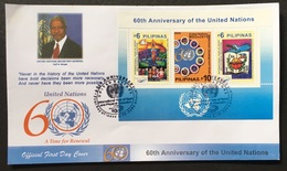 FDC Philippines 2005 - United Nations 60th Year SS - ONU